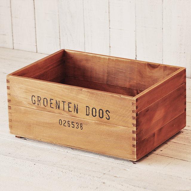 収納にちょうどいいサイズ 木の箱 1着でも送料無料 アンティーク調 ふた付可能 DIY ポテトボックス ワイン木箱 gs-kb02 1個 最安値 ハチラボ アンティーク風ウッドボックス