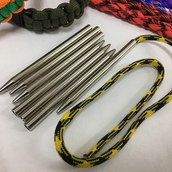 ◆パラコード用ニードル・ひも通し・編棒◆4mm用/長さ7.7cm/スチール製◆1本◆