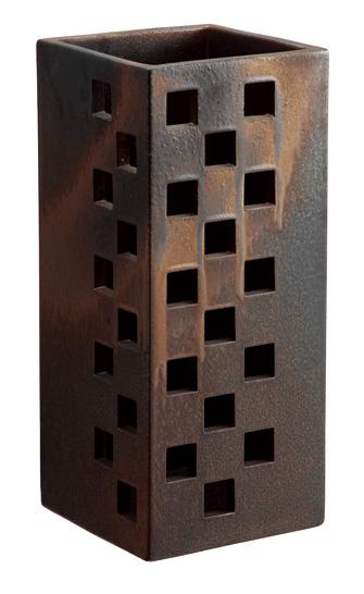【送料無料】【smtb-kd】信楽焼 傘立て 「スクエアゴールド傘立」 インテリア 陶器 焼物 陶芸品【522-05】
