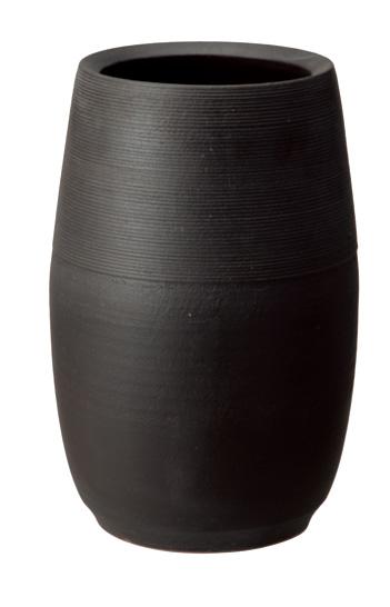 【送料無料】【smtb-kd】信楽焼 傘立て 「ブラックマット傘立」 インテリア 陶器 焼物 陶芸品【523-01】