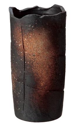 【送料無料】【smtb-kd】信楽焼 傘立て 「窯変ボカシ傘立」 インテリア 陶器 焼物 陶芸品【534-01】