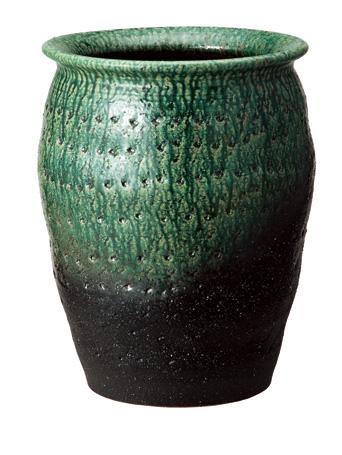 【送料無料】【smtb-kd】信楽焼 傘立て 「緑彩壺型傘立」 インテリア 陶器 焼物 陶芸品【535-02】