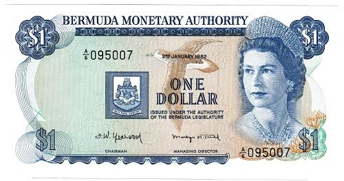 楽天市場】バミューダ 1ドル紙幣...