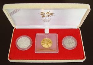 平成10年(1998年)長野冬季オリンピック1998 【3次】3点貨幣セット