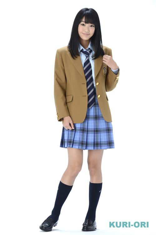 KURI-ORI Seihuku skirt W60,63,66,69,72 L42 KR369 saxeblue, purple