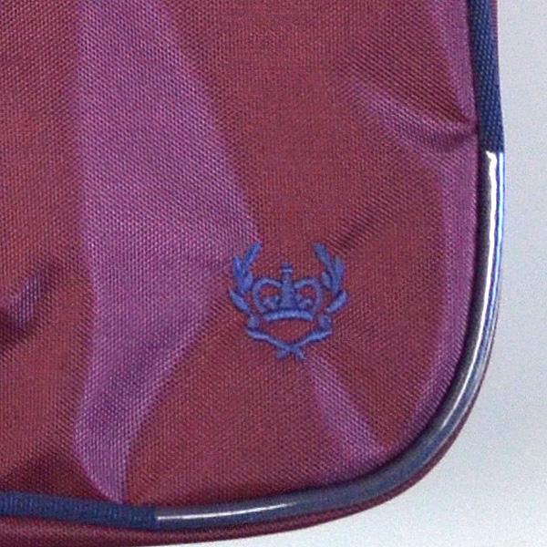 schoolbag 2K30018 , grape, navy crown embroidery