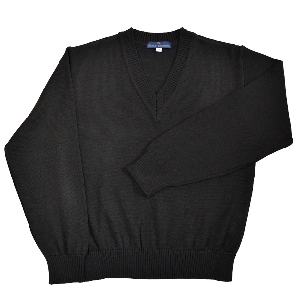 90132a6958a53c A classic plain black sweater for school. Easy to care and knitted with  anti-pill and static thread. Please wash the product with laundry net and  the weak ...