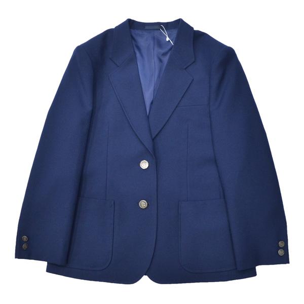 【セレモニーにおすすめ!】914-2JKT 女子用制服ブレザー定番制服スタイル青紺無地ジャケット NIKKEウール100%S~ELまで各種!ふくよかBサイズ、BS/BMあります明るいブルー!【日本製】【通学に】