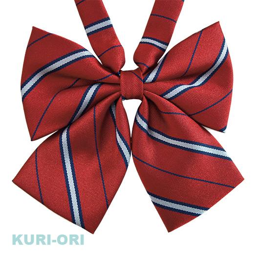 KURI-ORI的原创学院风蝴蝶结 KRR120 红色 蓝色白色的边色