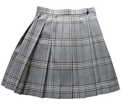 KURI-ORI Seihuku skirt W60,63,69 L48 KR367 gray, saxeblue