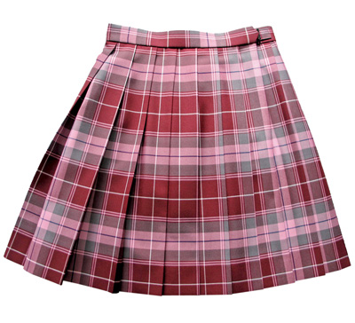 KURI-ORI Seihuku skirt W75,80,85 L48 KR368 crimson, gray, pink