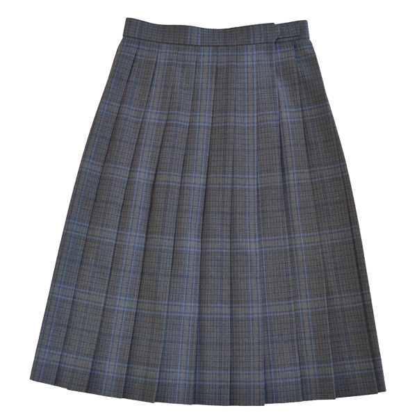 KURI-ORI Seihuku skirt W75,80,85 L54,57 WKR415 glen check, blue