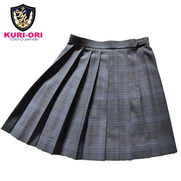 KURI-ORI Seihuku skirt W60,63,66,69,72 L48 WKR415 glen check, blue