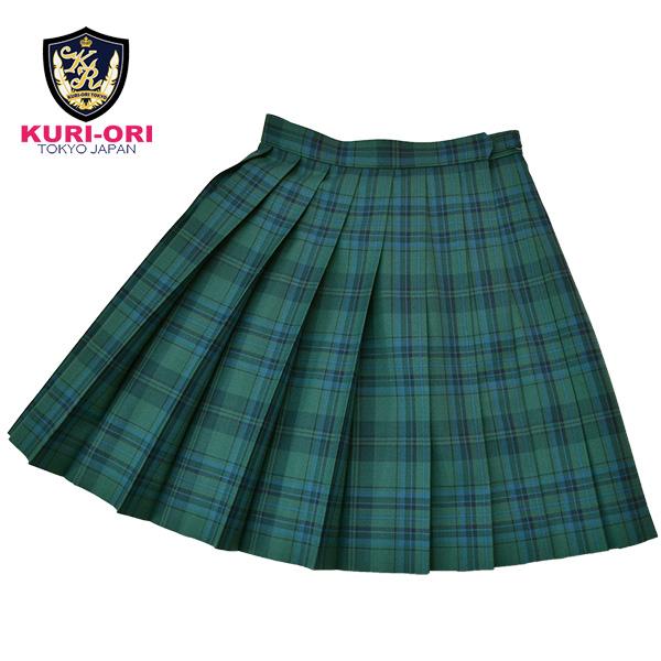 KURI-ORI Seihuku skirt W60 L42 WKR419 green, black, blue