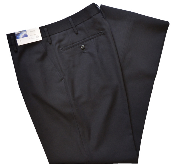 High-performance! School uniform winter slacks black no tuck waist 61-82 supermarket stretch water repellency, drumstick oil for washable stand-up collar 535574