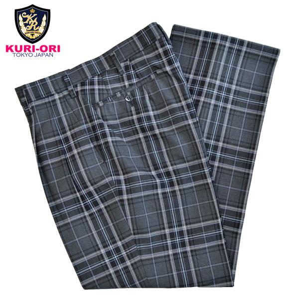 KURI-ORI Seihuku pants W64-W88 SKRB89S2 gray check