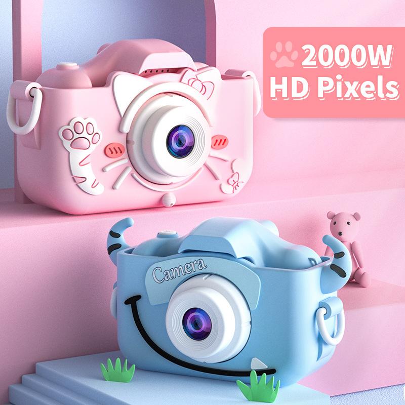 子供 カメラ デジタルカメラ 2000万画素1080p自撮り可 32GBカード キッズ トイカメラ usb充電 再入荷/予約販売! 小悪魔 直送商品 知育玩具 連写録画 ネコ クリスマスプレゼント