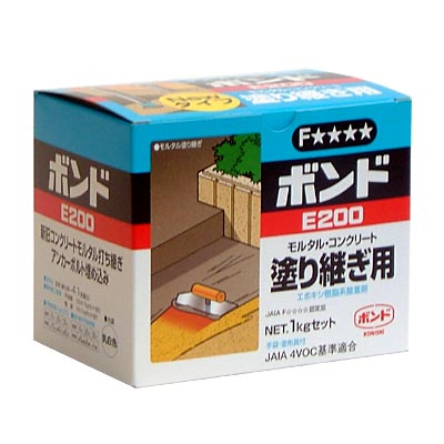 Konishi E200 1 kg set epoxy resin adhesive for concrete mortar