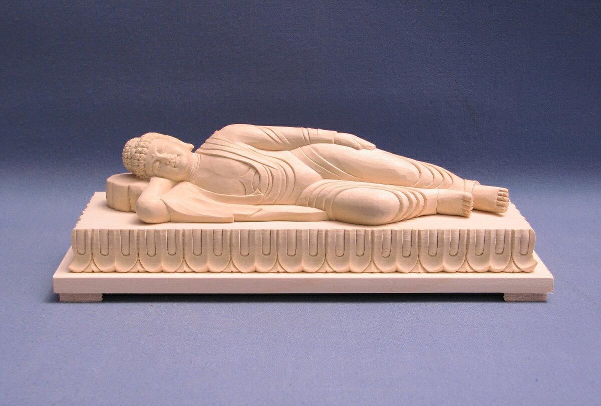 仏像 涅槃像 涅槃仏 寂滅 6.0寸 桧木