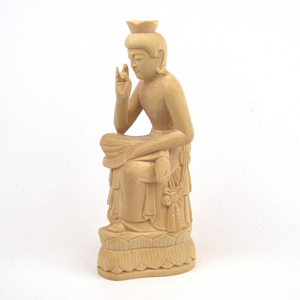 仏像 弥勒菩薩 半跏像 20cm 桧木