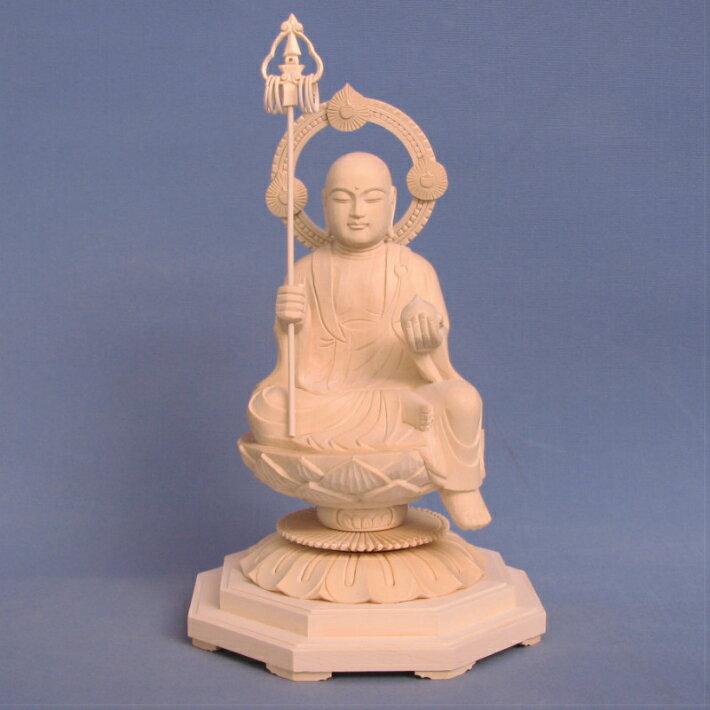 仏像 地蔵菩薩 半跏座像 3.5寸 桧木 お地蔵様 お地蔵さん