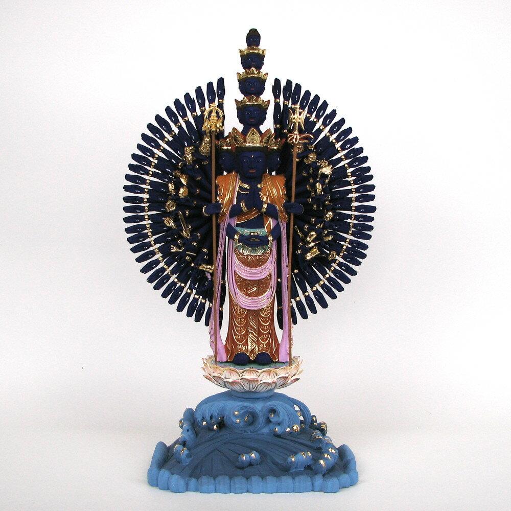 仏像 一百八臂金剛蔵王菩薩 立像 総高40cm 桧木彩色 【受注生産】