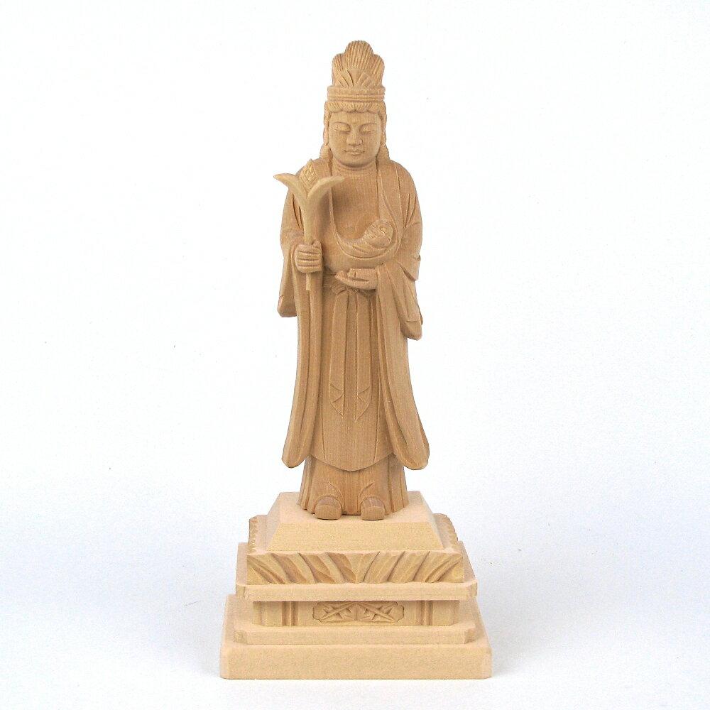 仏像 訶梨帝母 立像 身丈5.0寸 桧木 鬼子母神 子供 安産 守護