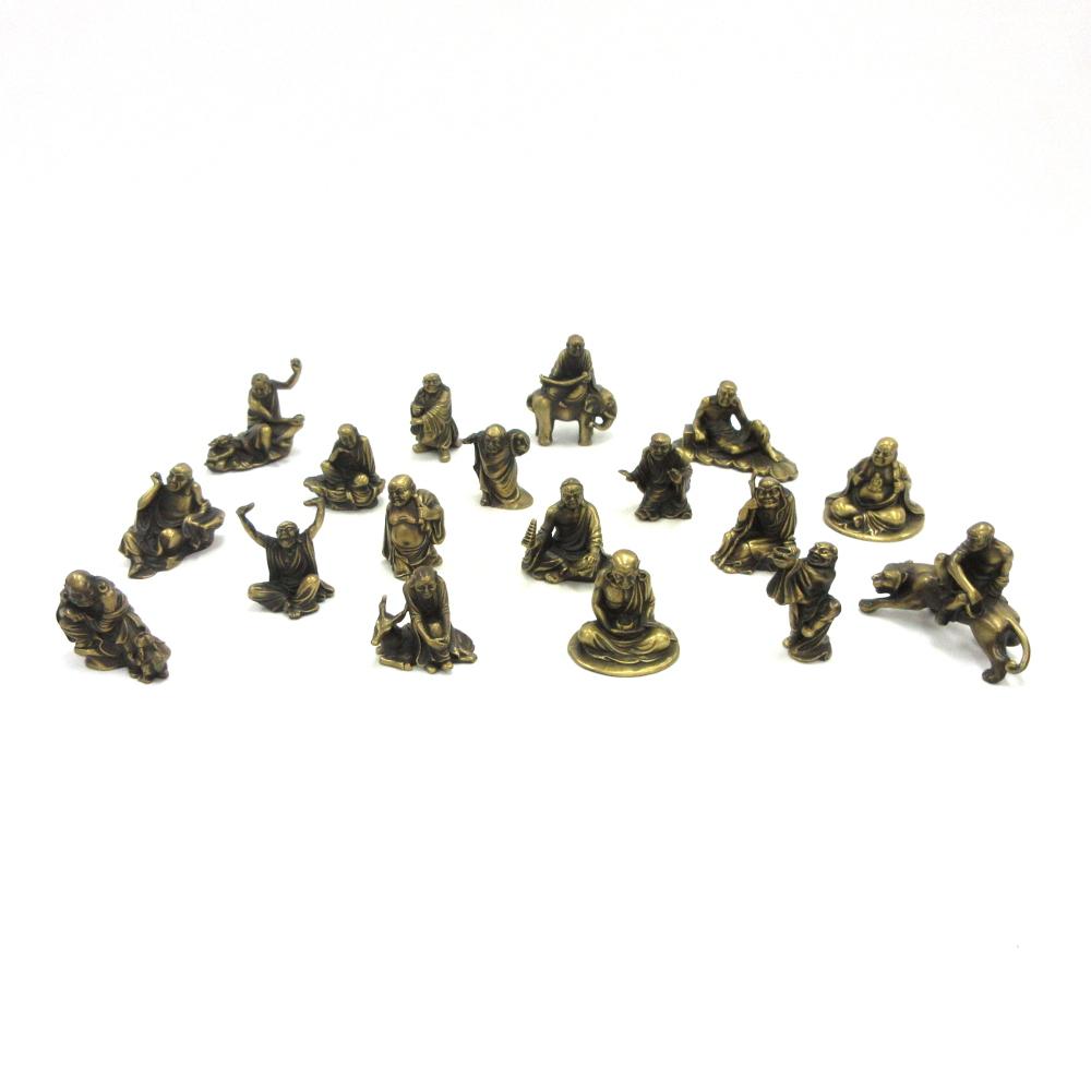 十八羅漢 高さ5~6cm 黄銅 金属仏像