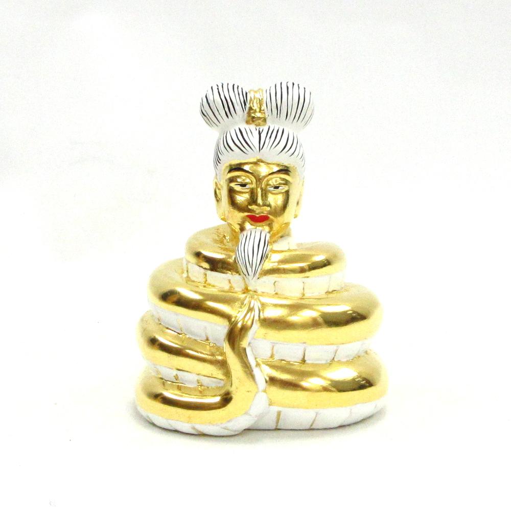 仏像 仏像 宇賀神 翁像 翁像 宇賀神 総高8.5cm 桧木金箔仕上げ, タイの台所オンラインショップ:2ce035c0 --- incor-solution.net