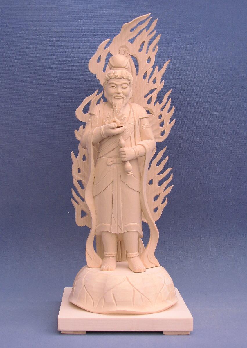仏像 火天 立像 6.0寸 桧木