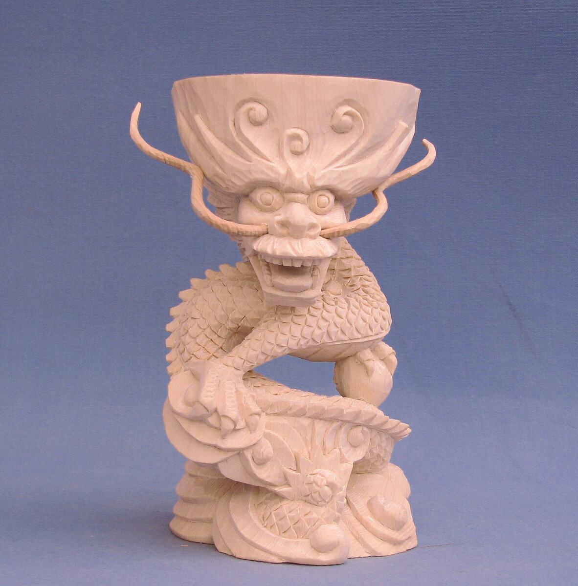 木彫仏像/龍台(高さ15cm)桧木【受注生産】
