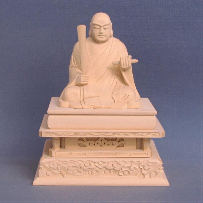 仏像 日蓮聖人 座像 3.0寸 桧木 日蓮上人 日蓮宗 法華宗 日蓮大菩薩 立正大師