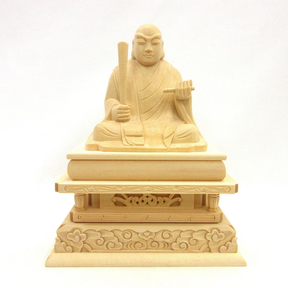 木彫仏像 木彫り 木製 仏像 日蓮聖人 座像 再入荷 爆安 予約販売 3.0寸 桧木 日蓮大菩薩 日蓮上人 日蓮宗 立正大師 法華宗