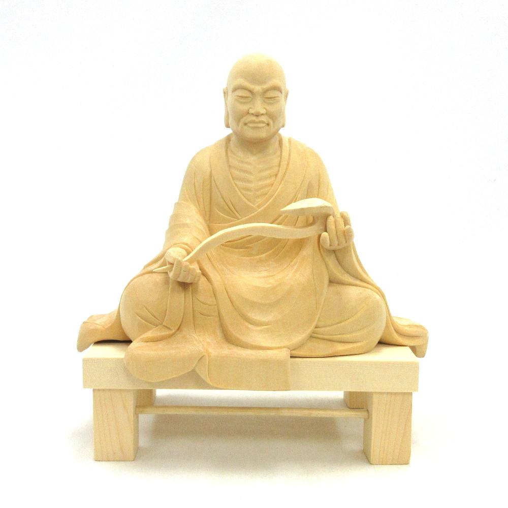 仏像 行基菩薩 座像 3.5寸 桧木