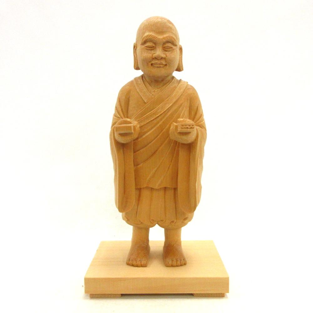 仏像 一遍上人 立像 5.0寸 桧木 時宗開祖 円照大師