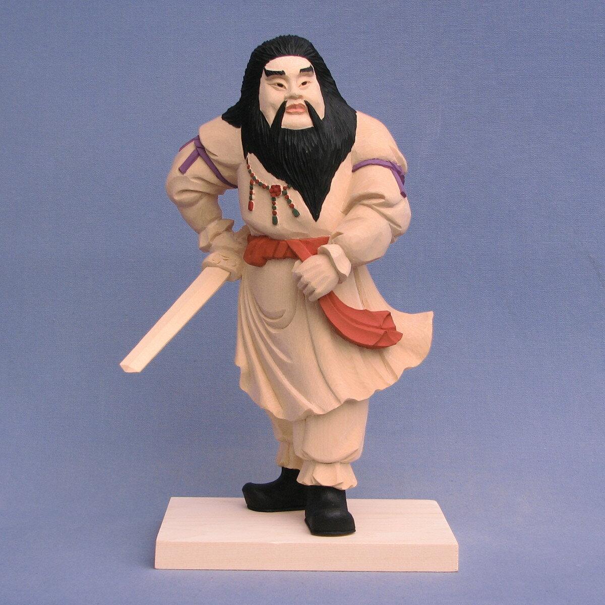 神像 須佐之男命 スサノオ 総高25cm 桧木彩色
