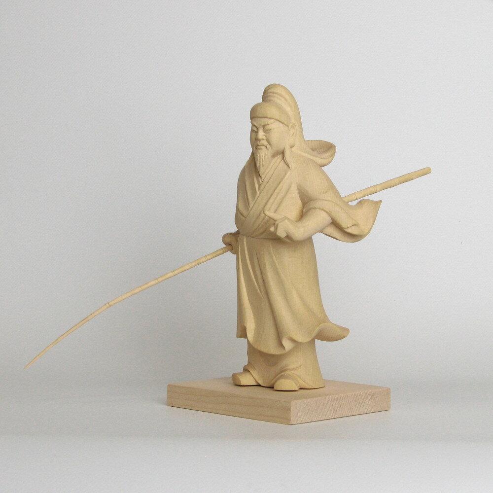神像 事代主 言代主神 ことしろぬし 立像 総高12cm 桧木 【受注生産】
