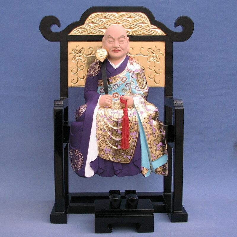 木彫仏像/螢山禅師総高50cm桧木彩色【受注生産】