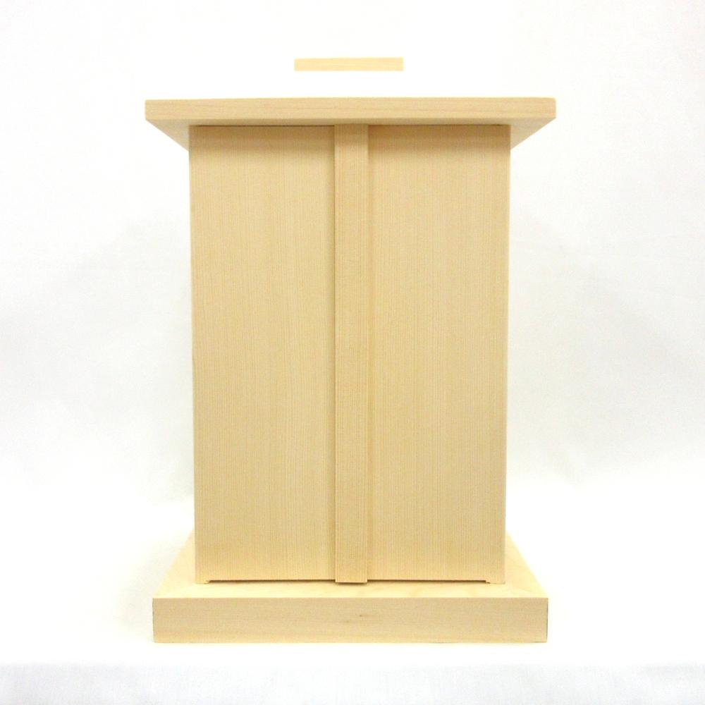 木製仏具 白木厨子 内寸W20*D20*H30cm 桧木 お厨子