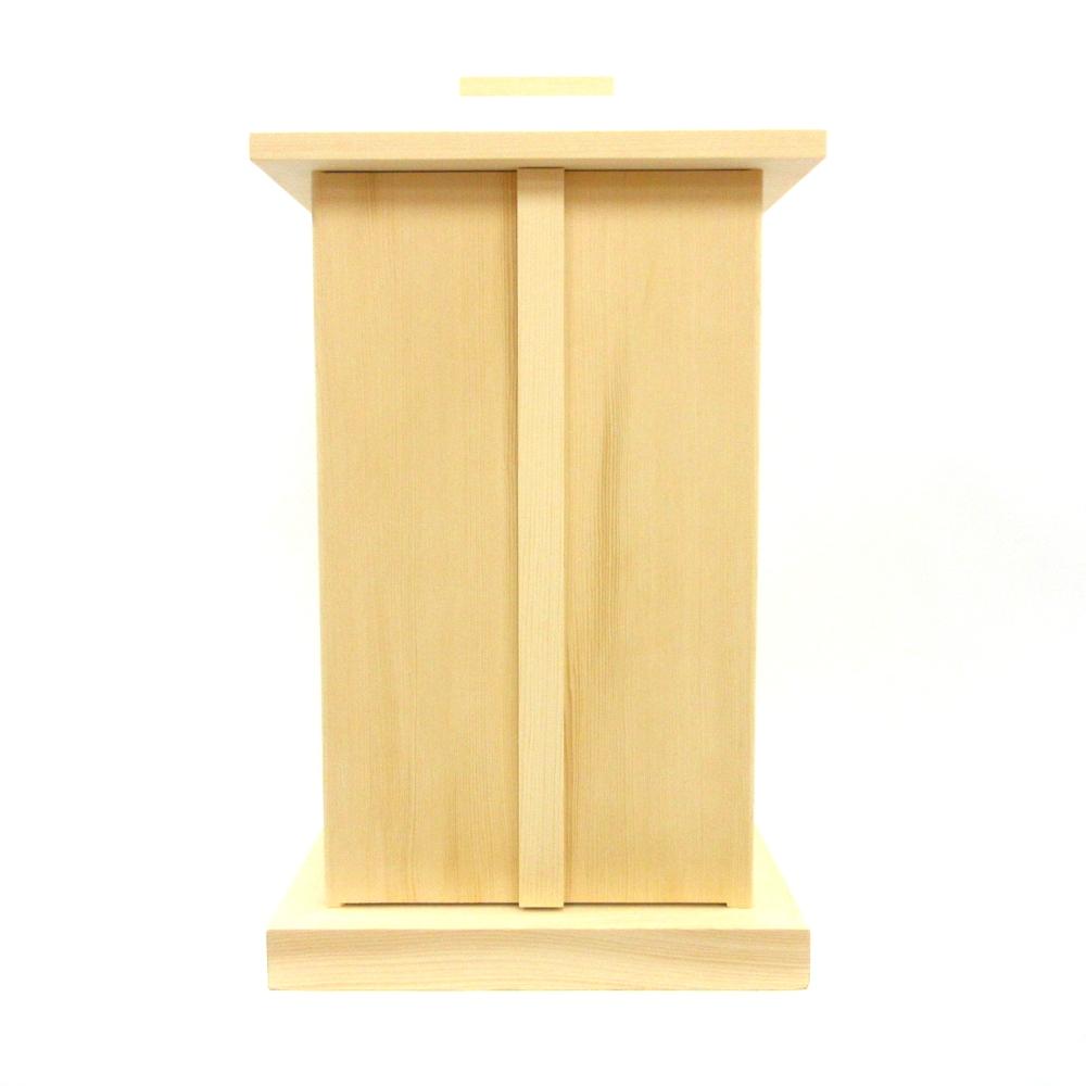 木製仏具 白木厨子 内寸W20*D20*H35cm 桧木 お厨子