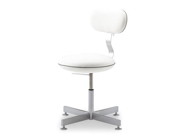 マカロンワークチェア アジャスター脚 回転イス 高さ調整 パソコンチェア オフィス 事務椅子 おしゃれ ふわもこ 背もたれ macaron ADAL 18色 P0478-1S【18色】