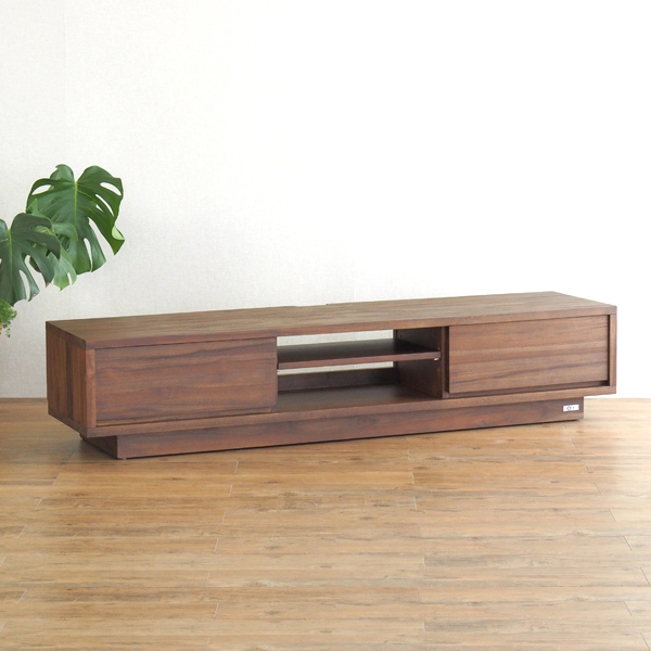TVボード 幅160cm 天然木チーク 無垢材 アジアン家具 @CBi(アクビィ) ACW540KA