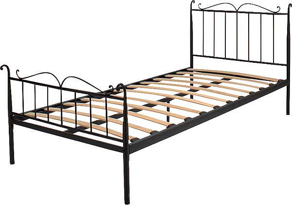 『ちょとオシャレ家具』シングルベッド bed ベッド マットレスベッド フレームのみ カラー2色 スチール ウッドスプリング 通気性良い ブラック ホワイト デザイン おしゃれ B-241S