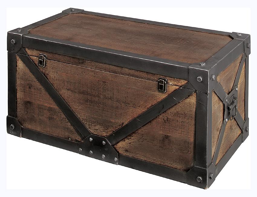 『ちょとオシャレ家具』収納ボックス 「トランクM」収納トランク 収納ケース 木製 天然木 収納家具 おもちゃ入れ キッズ キッズ収納 トイボックス 北欧 フタ付き トランク アンティーク レトロ インテリア おしゃれ IW-982 東谷