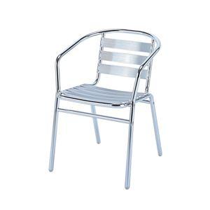 オフィス家具 ガーデンチェア 肘付き スタッキングチェア ガーデンチェアー チェアー チェア スタッキング 椅子 イス テラス 天然木 ガーデン 庭先 庭 幅53cm 公式 おしゃれ 直径25.4mm 並行輸入品 バルコニー アルミ ガーデンファニチャー
