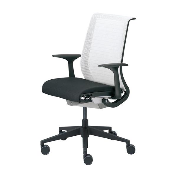 スチールケース シンク オフィスチェア 肘付き メッシュバック Steelcase THINK 13101型 ブラックフレーム イス 椅子 オフィス家具 いす パソコンチェア ワークチェア デスクチェア リクライニング 腰痛 疲れにくい おしゃれ