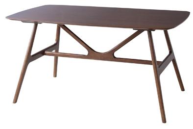 オスカー ダイニングテーブル 天然木アッシュ/ラバーウッド W150×D90×H74 レトロな和モダン VET-631T 東谷 azumaya