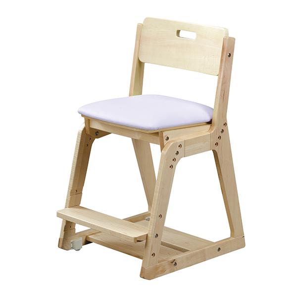 【ポイント5倍+色々クーポン】くろがね学習チェア WDC20型 木製イス 座面PVC張タイプ 木製チェア 学習椅子 天然木 座面高さ調節4段階 座面前後奥行きスライド調節 足置き高さ3段階調節 沈み込みキャスター