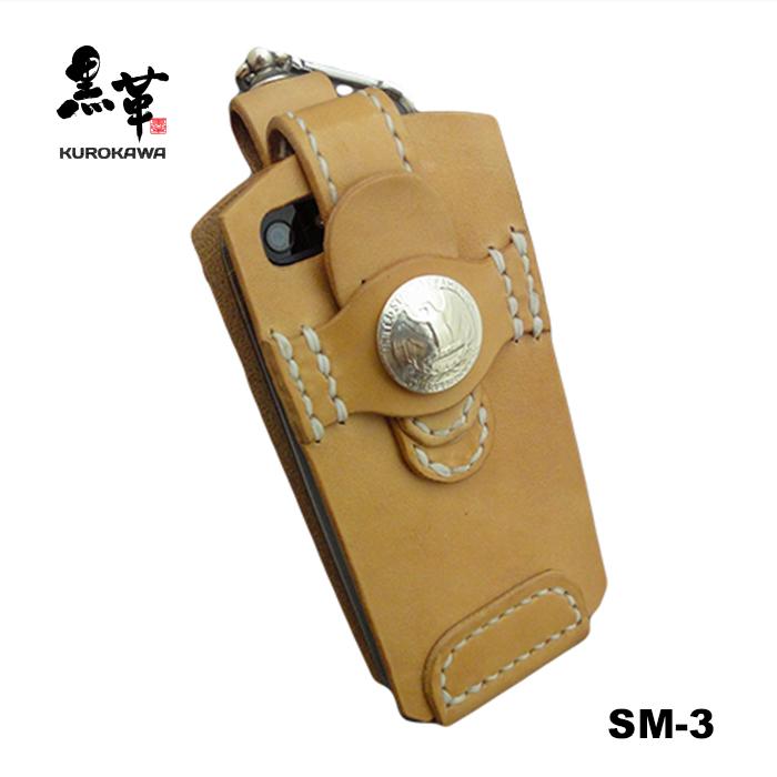 オーダーメイド可能 ハンドメイド スマホ ケース SALE KUROKAWA TELEPHONE CASE SM-3 ユニセックス メンズ レザークラフト スマホケース ブッテーロ レディース サドルレザー 即出荷