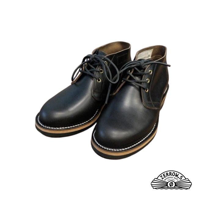 ZERROW'S BONEAKERSLINE 今だけスーパーセール限定 ゼローズブニーカーズライン チャッカー ブラック 茶芯 ブニーカーズ NEW ARRIVAL ブニーカー スニーカー 日本製 ブーツ